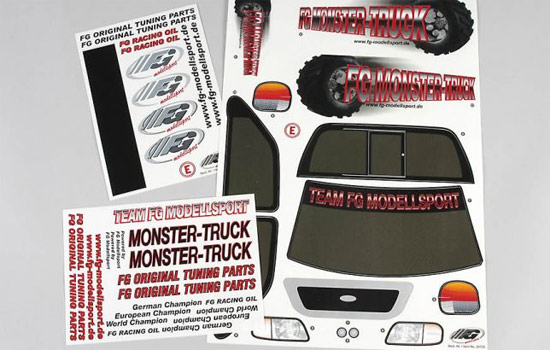 carrosserie FG Autocollants Monster Truck
