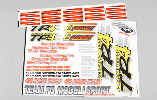 carrosserie FG Set sticker M.Truggy